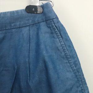 Ann Taylor Chambray Shorts Size 2P